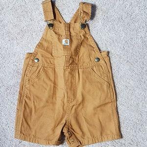 Carhartt size 24 month short overalls
